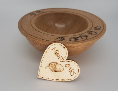 Oak Bowl Acorn Design