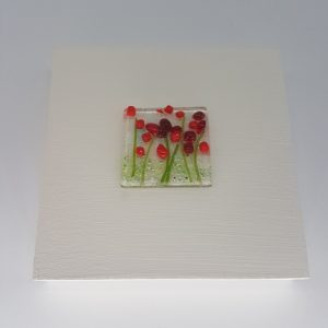 Poppies Glass Picture