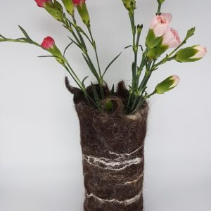 Hand felted vessel