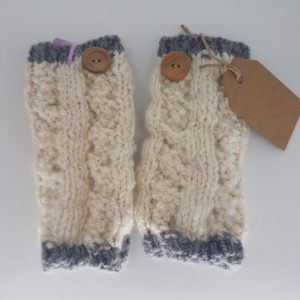 alpaca woollen gloves grey edge