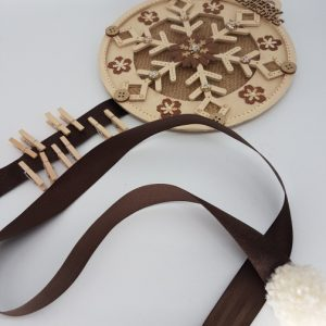 wooden christmas card holder