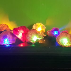 hand felted fairy lights multi coloured