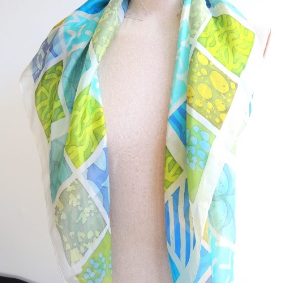 'Cornish Eden Sudoku' Silk Scarf