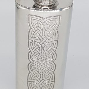 knot flask pewter