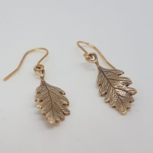Oak Leaf Earrings in bronze