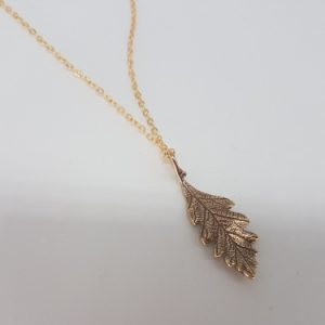 Oak Leaf bronze necklace
