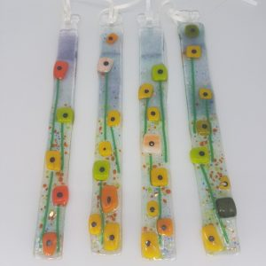 Fused Glass Spring Flower Mixed Colours Suncatcher