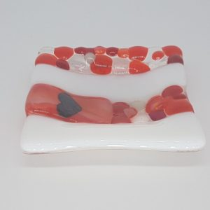 Heart Fused Glass Trinket Dish